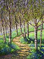 Birches And Bluebells